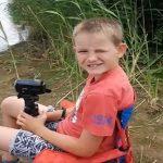 Vissen met mijn zoon bij de Slingeplas Bredevoort